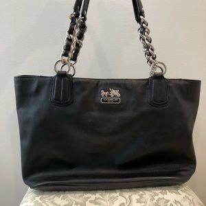 COACH Black Tote Shoulder Chain Bag Purse
